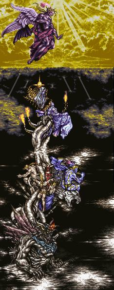 FF6 Tower of Kefka and final form in-game