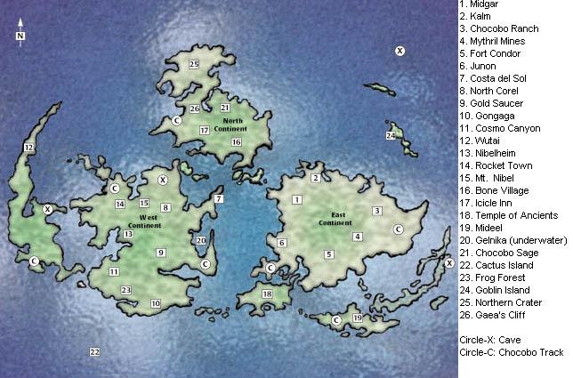 lost on the world map - Final Fantasy VII Forum - Neoseeker Forums